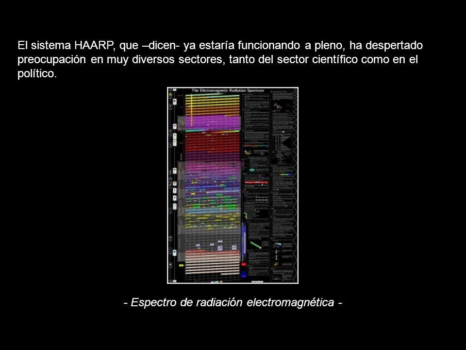 El sistema HAARP, que –dicen- ya estaría funcionando a pleno, ha despertado preocupación en muy diversos sectores, tanto del sector científico como en el político.