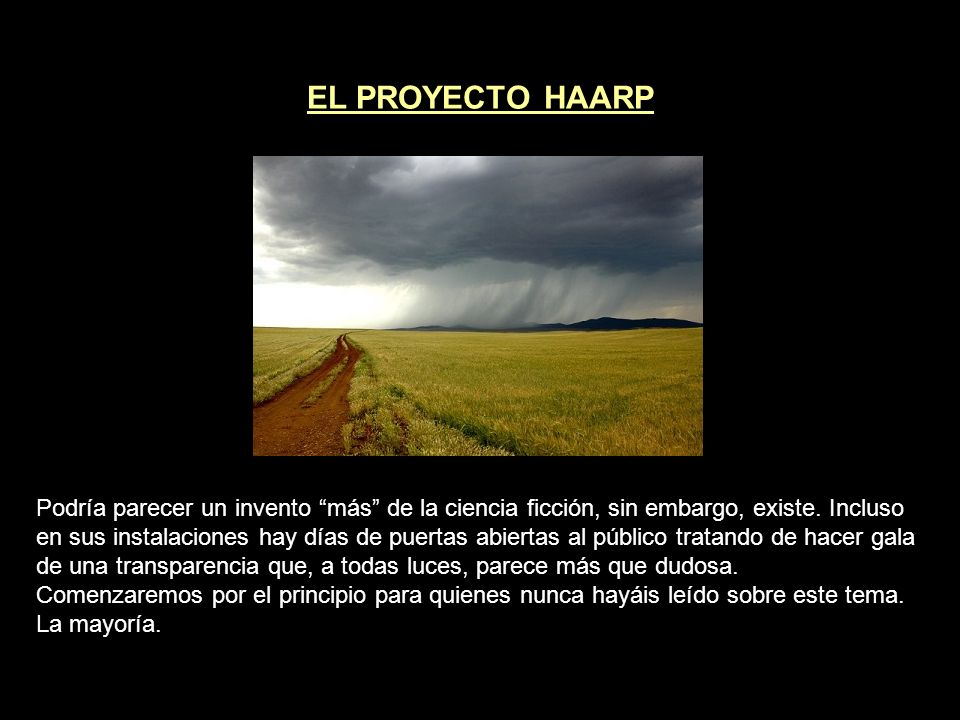 EL PROYECTO HAARP