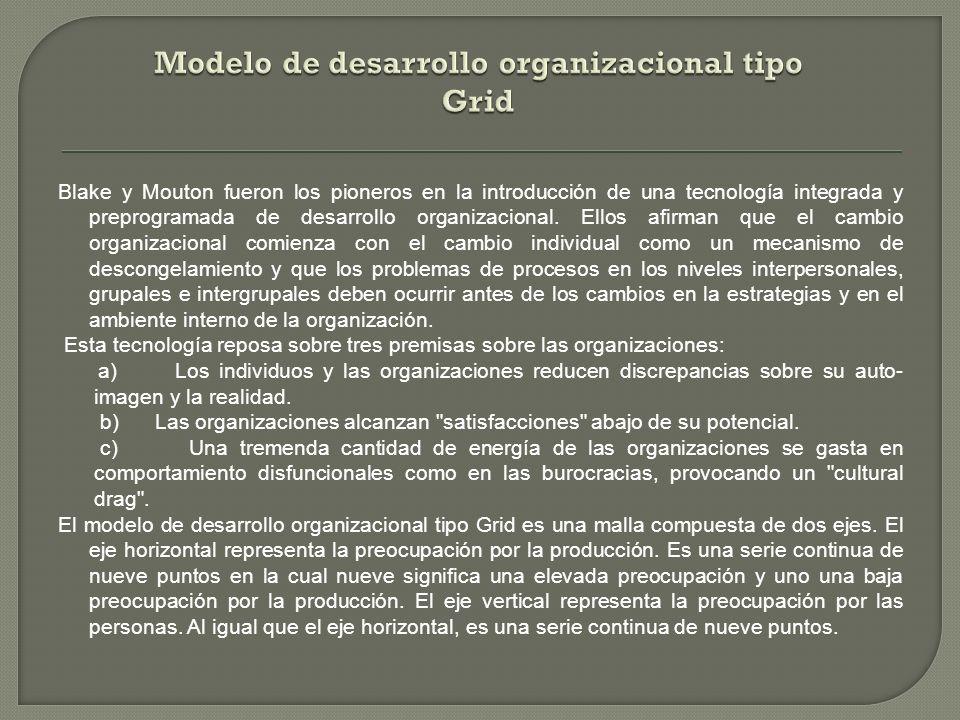 Modelo de desarrollo organizacional tipo Grid
