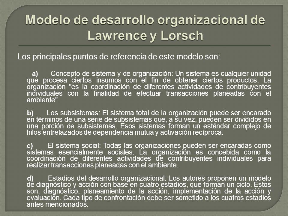 Modelo de desarrollo organizacional de Lawrence y Lorsch