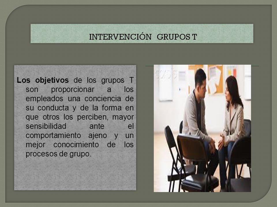 Intervención grupos T