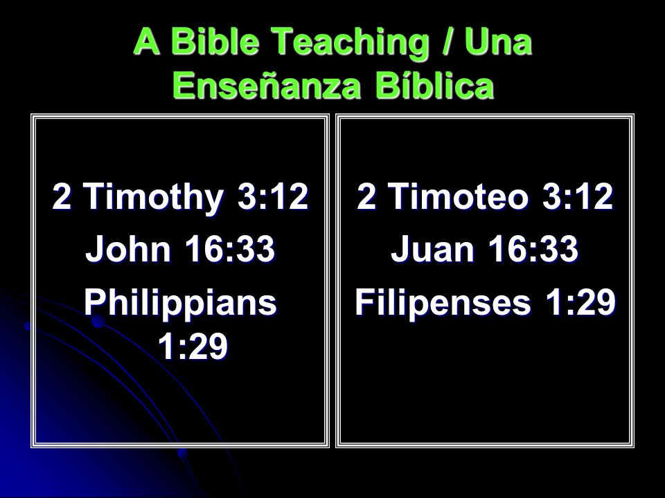 A Bible Teaching / Una Enseñanza Bíblica