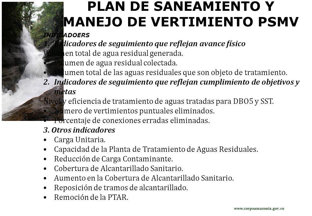 PLAN DE SANEAMIENTO Y MANEJO DE VERTIMIENTO PSMV
