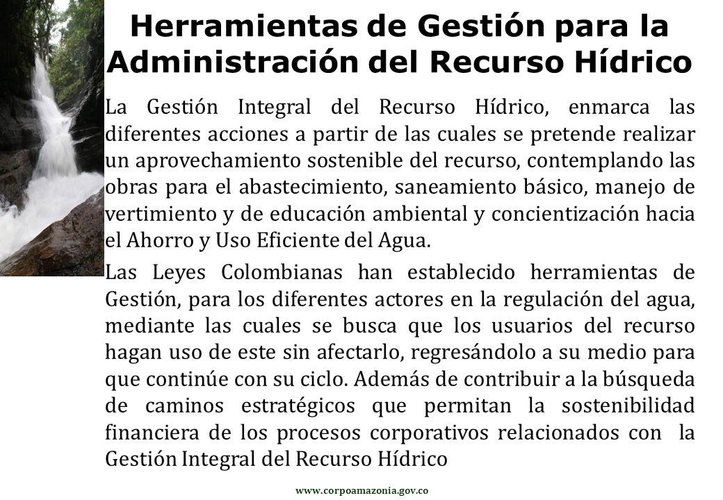 Herramientas de Gestión para la Administración del Recurso Hídrico