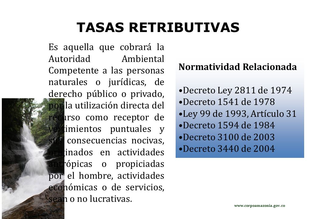 TASAS RETRIBUTIVAS