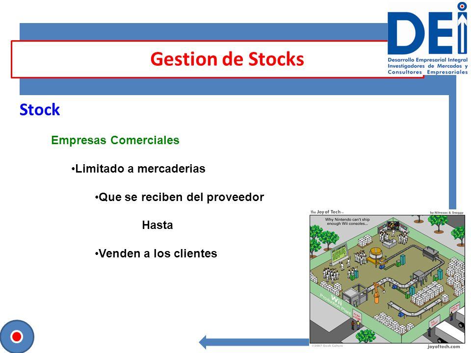 Gestion de Stocks Stock Empresas Comerciales Limitado a mercaderias
