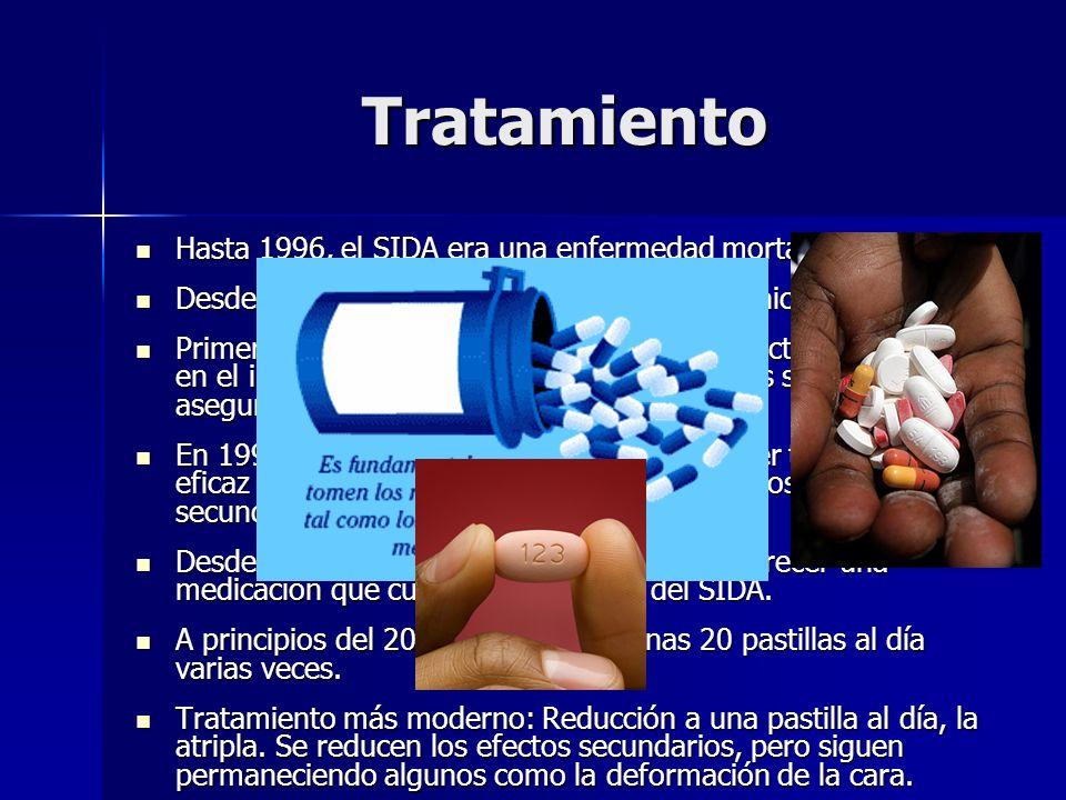 Tratamiento Hasta 1996, el SIDA era una enfermedad mortal.