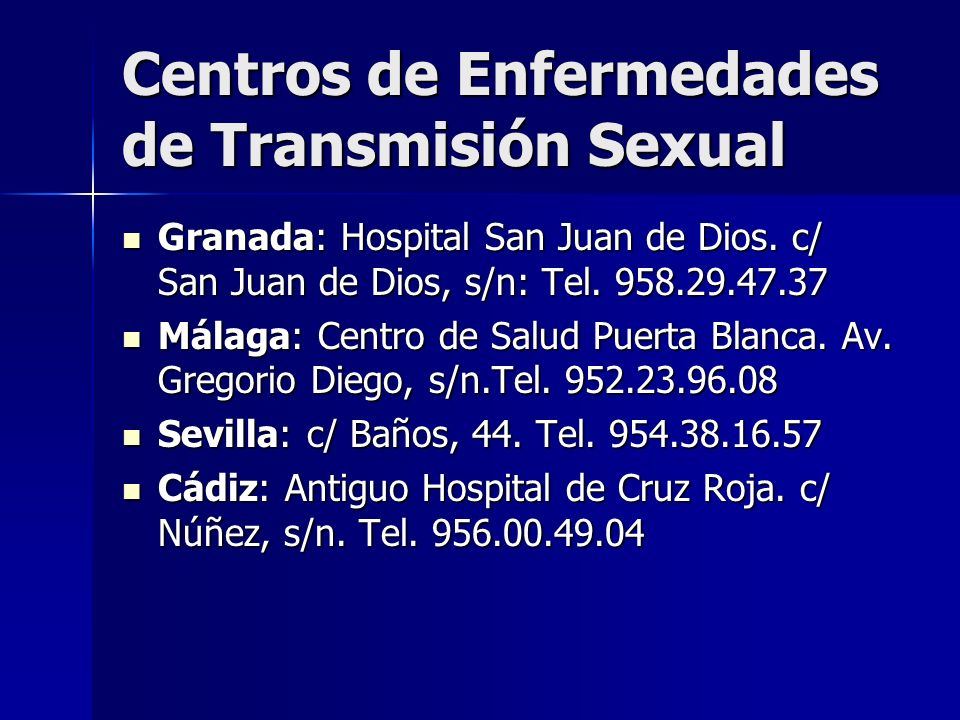 Centros de Enfermedades de Transmisión Sexual
