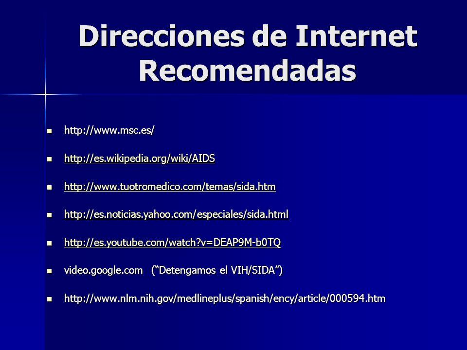 Direcciones de Internet Recomendadas