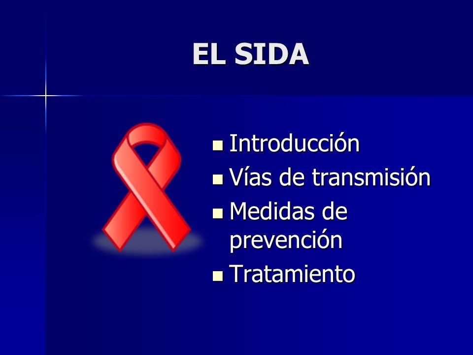 EL SIDA Introducción Vías de transmisión Medidas de prevención