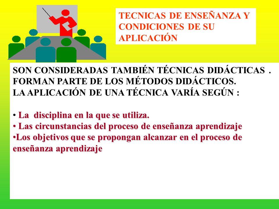 TECNICAS DE ENSEÑANZA Y