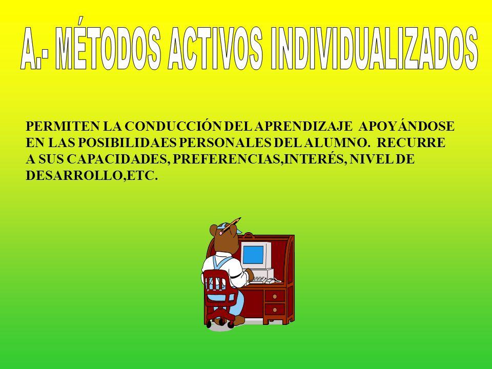 A.- MÉTODOS ACTIVOS INDIVIDUALIZADOS