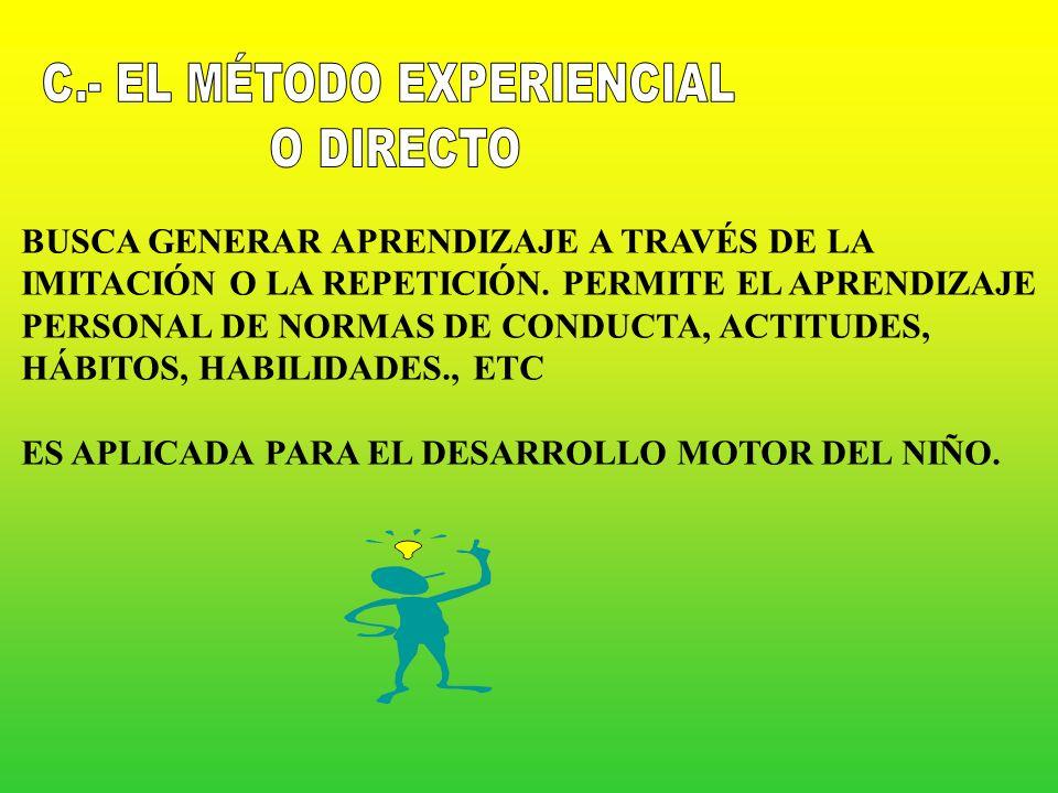 C.- EL MÉTODO EXPERIENCIAL