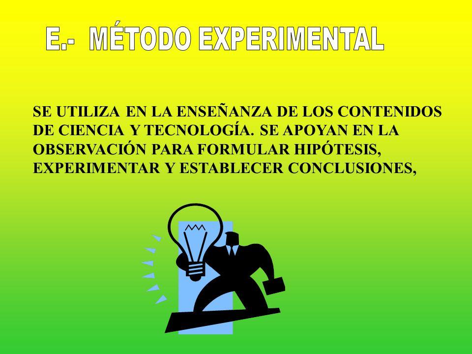 E.- MÉTODO EXPERIMENTAL