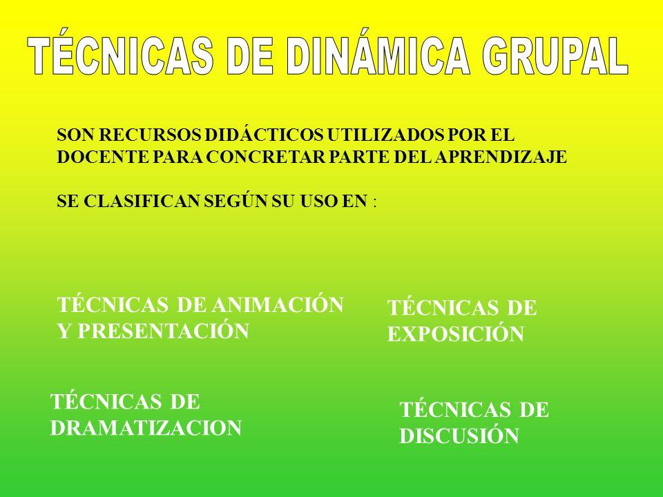 TÉCNICAS DE DINÁMICA GRUPAL