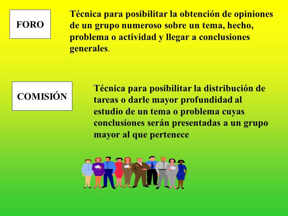 Técnica para posibilitar la obtención de opiniones de un grupo numeroso sobre un tema, hecho, problema o actividad y llegar a conclusiones generales.