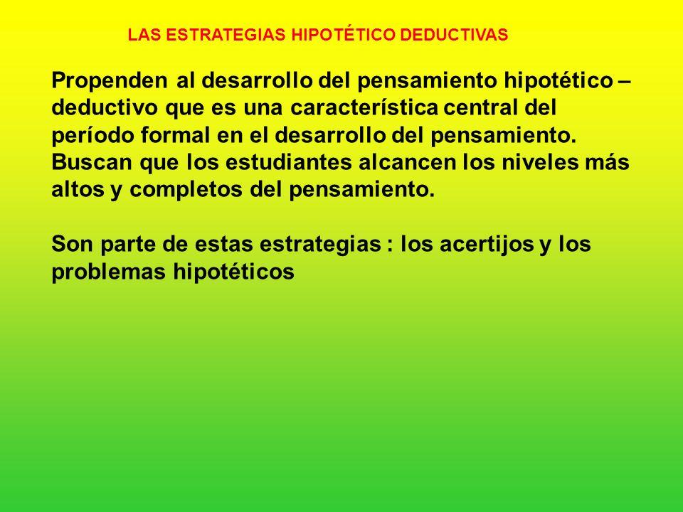 LAS ESTRATEGIAS HIPOTÉTICO DEDUCTIVAS