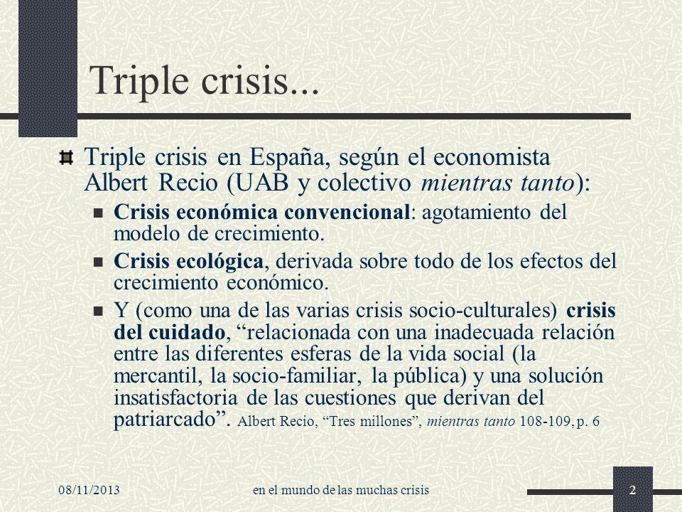 en el mundo de las muchas crisis
