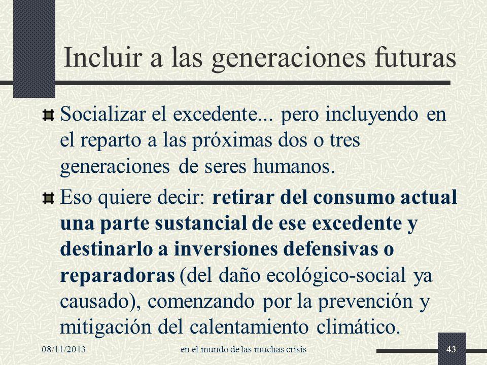 Incluir a las generaciones futuras