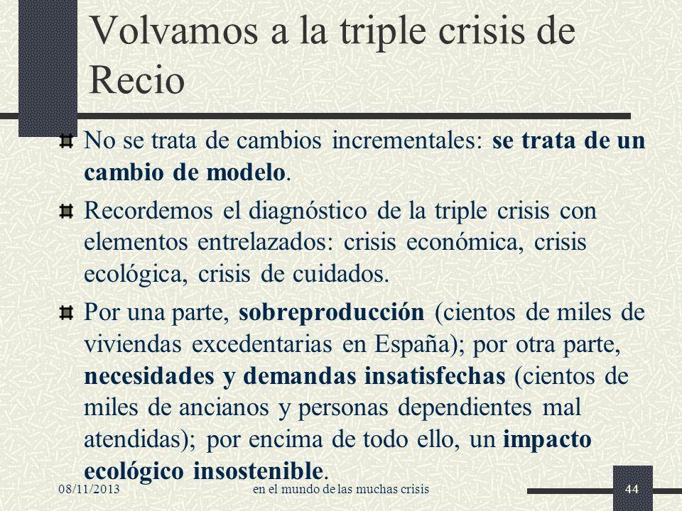 Volvamos a la triple crisis de Recio
