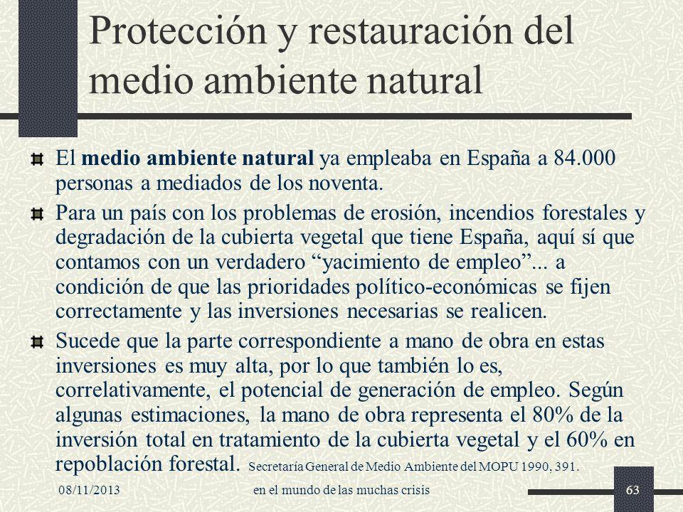 Protección y restauración del medio ambiente natural