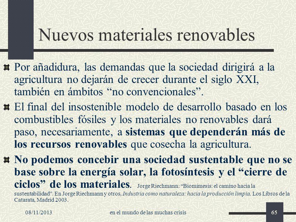 Nuevos materiales renovables