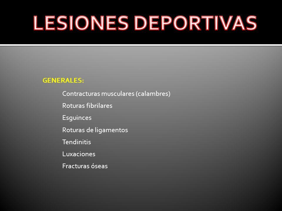 LESIONES DEPORTIVAS GENERALES: Contracturas musculares (calambres)