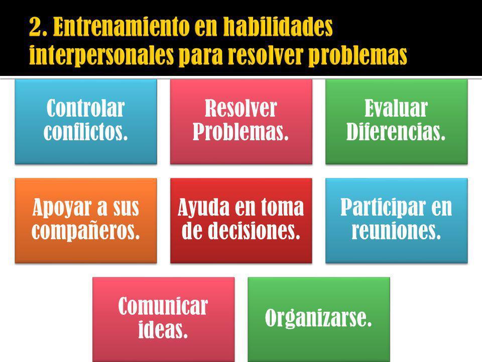 2. Entrenamiento en habilidades interpersonales para resolver problemas