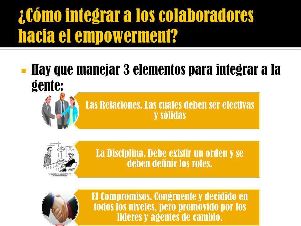 ¿Cómo integrar a los colaboradores hacia el empowerment