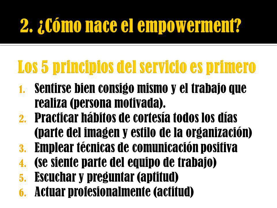 Los 5 principios del servicio es primero
