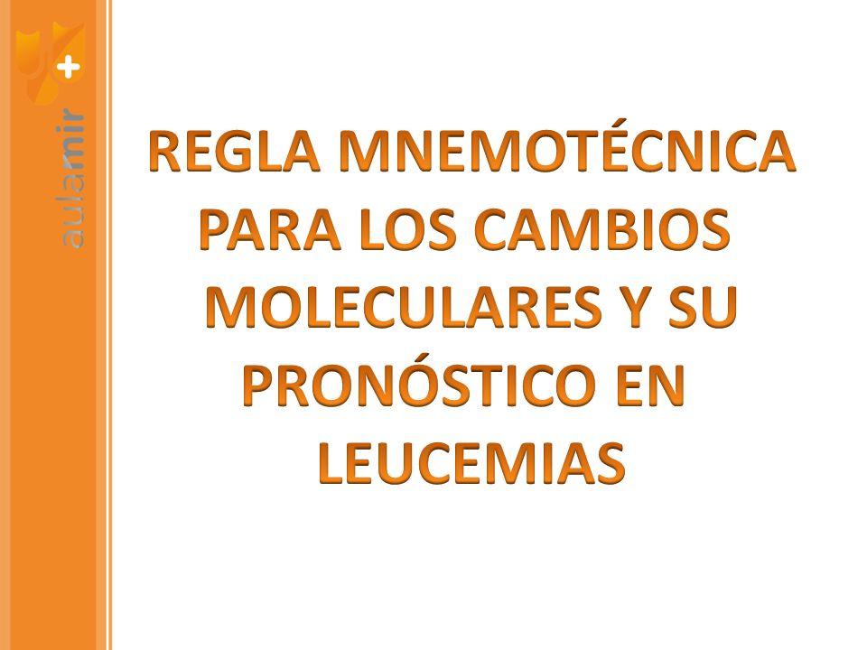 REGLA MNEMOTÉCNICA PARA LOS CAMBIOS MOLECULARES Y SU PRONÓSTICO EN LEUCEMIAS