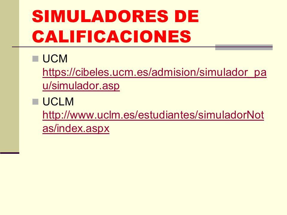 SIMULADORES DE CALIFICACIONES