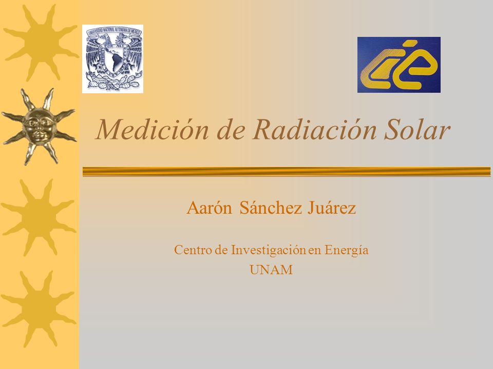 Medición de Radiación Solar