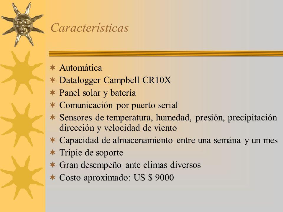 Características Automática Datalogger Campbell CR10X