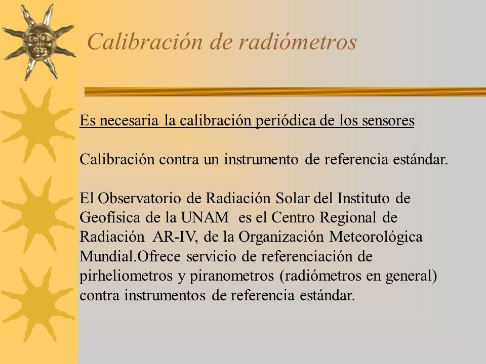 Calibración de radiómetros