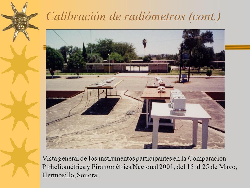Calibración de radiómetros (cont.)