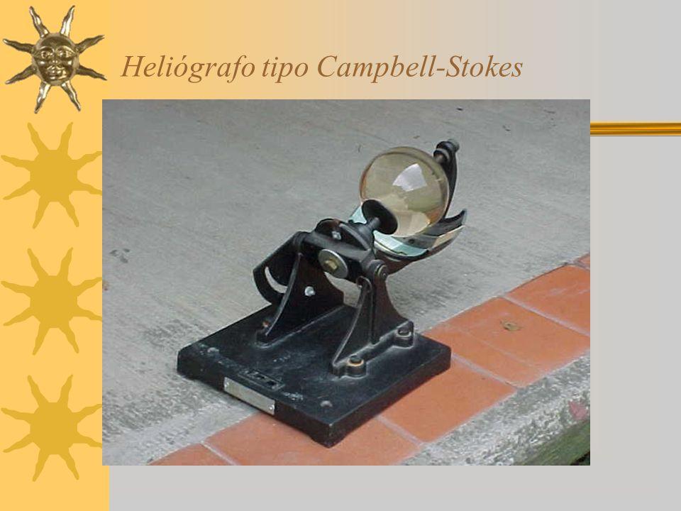 Heliógrafo tipo Campbell-Stokes