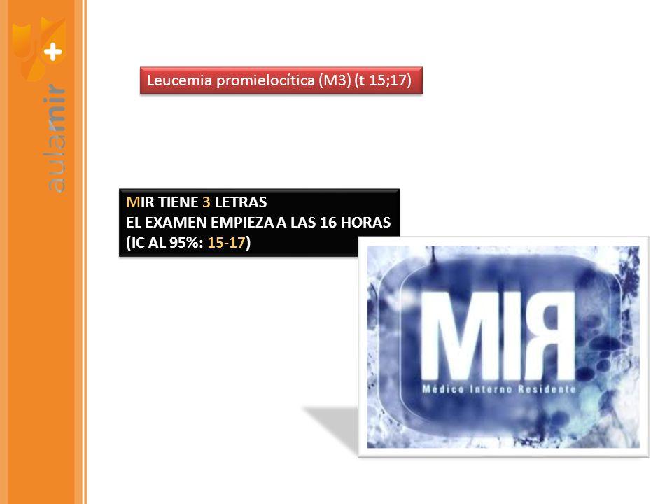Leucemia promielocítica (M3) (t 15;17)