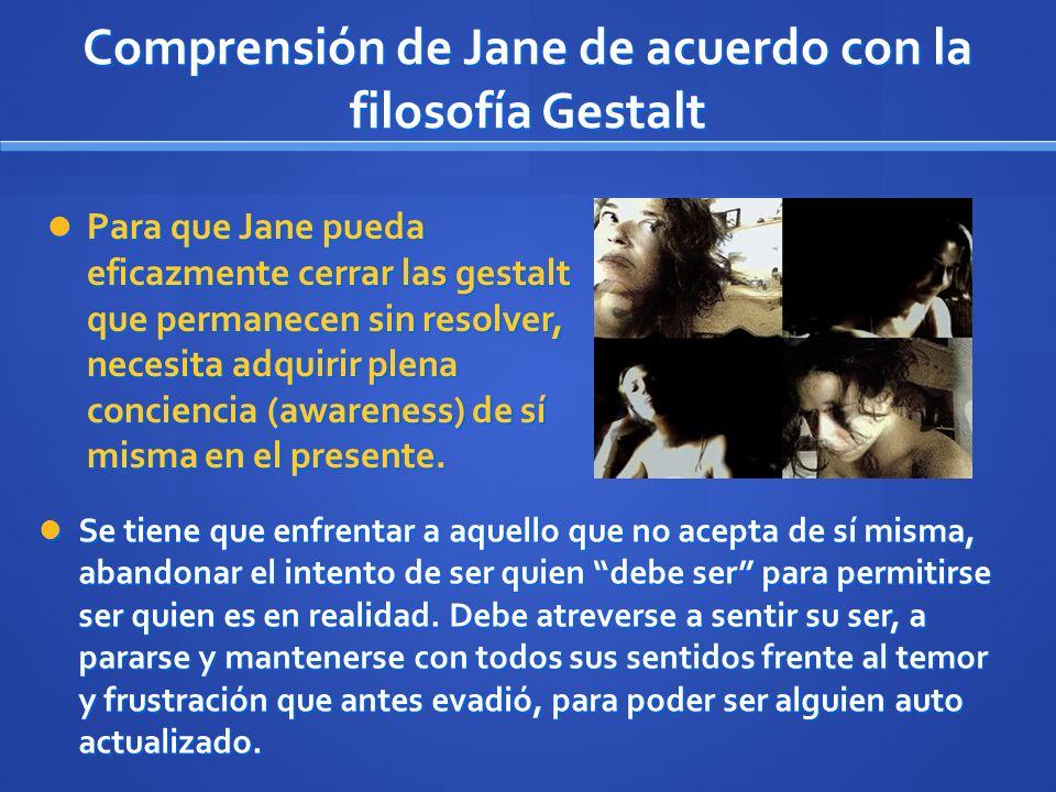 Comprensión de Jane de acuerdo con la filosofía Gestalt