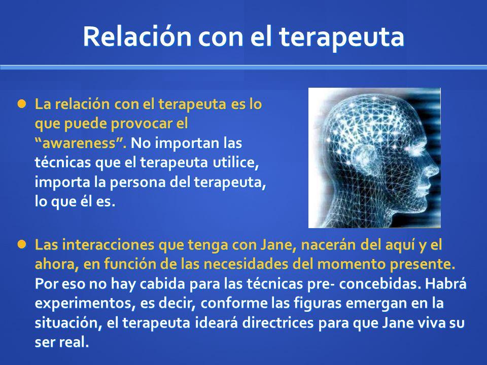 Relación con el terapeuta