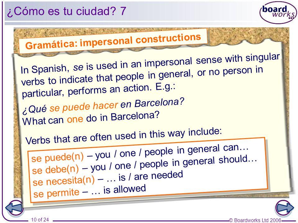 Gramática: impersonal constructions