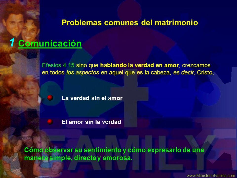 1 Comunicación Problemas comunes del matrimonio