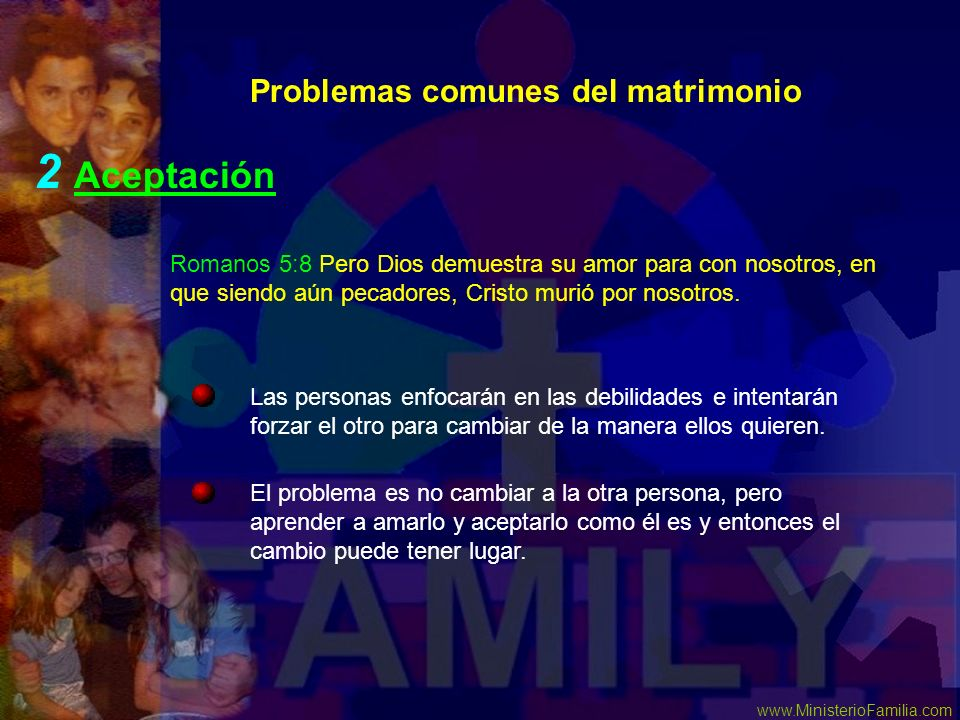 2 Aceptación Problemas comunes del matrimonio