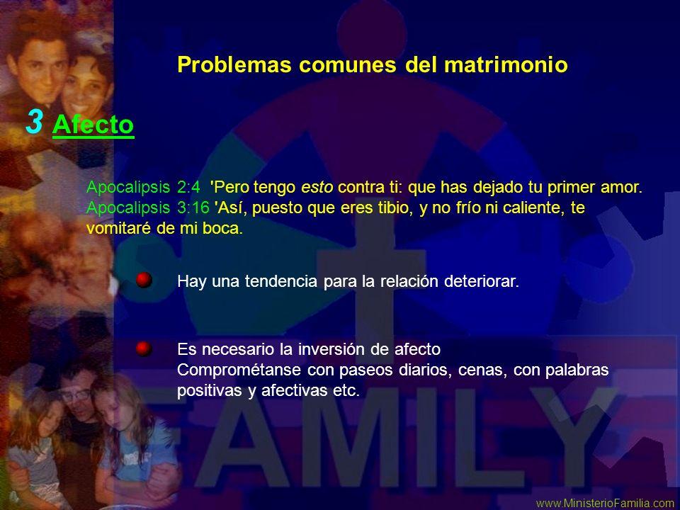 3 Afecto Problemas comunes del matrimonio