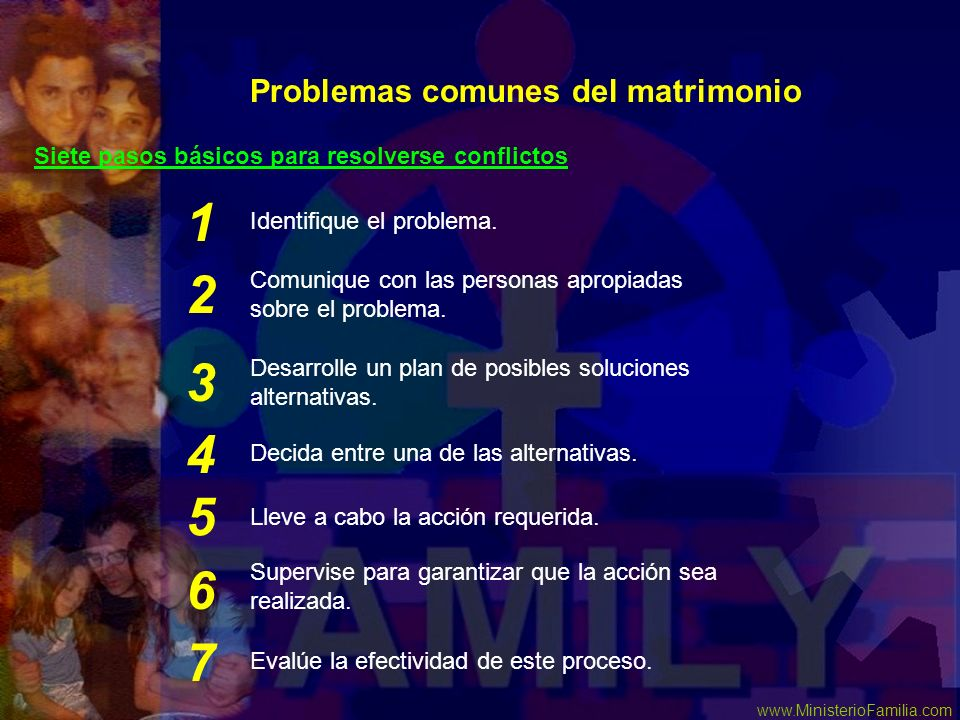 1 2 3 4 5 6 7 Problemas comunes del matrimonio