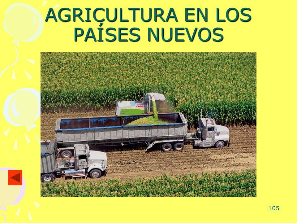 AGRICULTURA EN LOS PAÍSES NUEVOS
