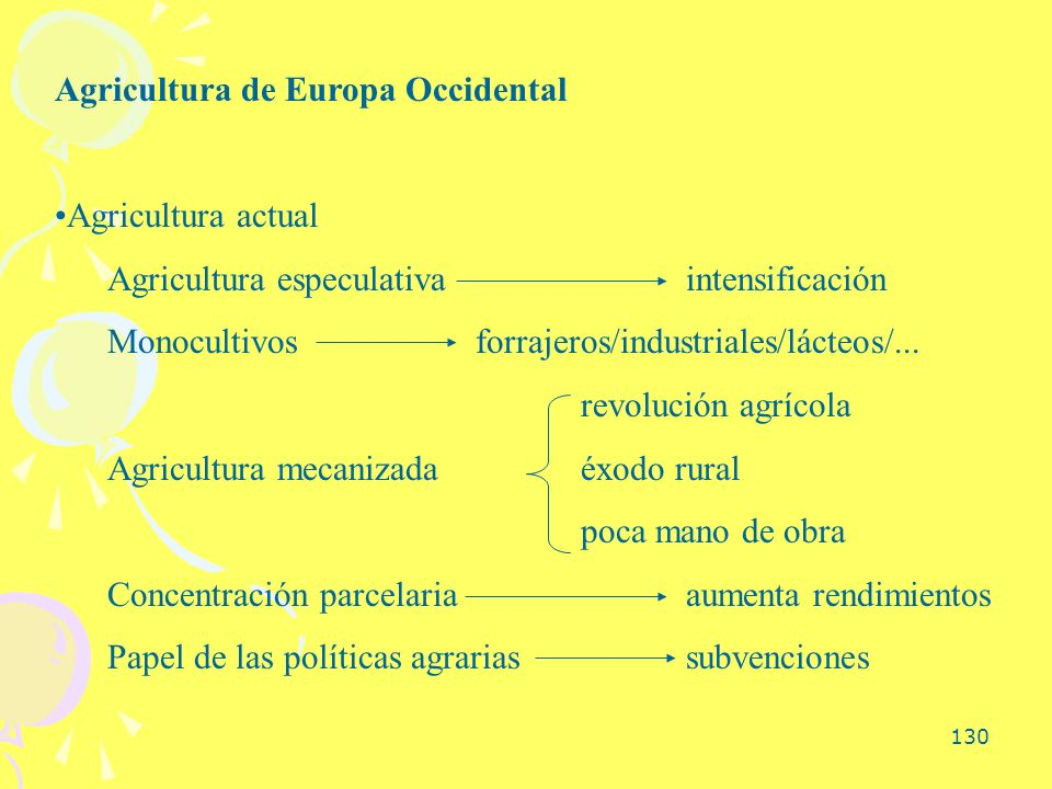 Agricultura de Europa Occidental