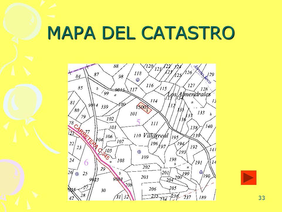 MAPA DEL CATASTRO