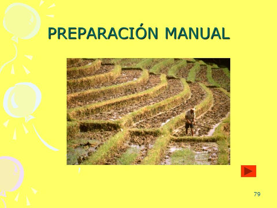 PREPARACIÓN MANUAL