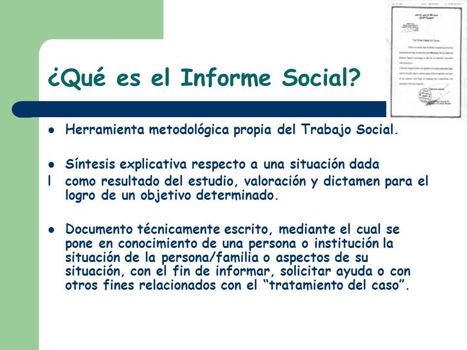 ¿Qué es el Informe Social